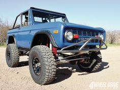 Ford-Bronco-1971-Blue-9578-Wallpaper-Autoswall