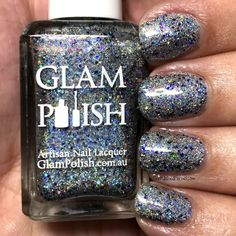 """Glam Polish """"I'd Have Ugly Nails Without Nikki"""" Duo - Limited Edition - The Polished Pursuit Blue Glitter, Indie Brands, Happy Weekend, Being Ugly, Artisan, Nail Polish, Nails, Finger Nails, Ongles"""