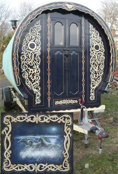 Hand painted gypsy van, such fun i want to stock it and go on a vacay