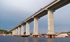 First Amazon bridge to open world's greatest rainforest to development.   The Manaus-Iranduba Bridge, Brazil.
