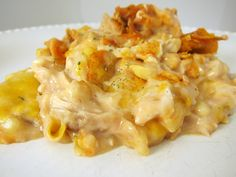 I add corn, black beans, 1 1/2 can rotel, 1/2 chicken broth. So good. Doritos Cheesy Chicken Casserole | Plain Chicken