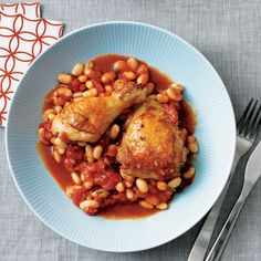 For a flavorful chicken dinner, serve this Tuscan-flavored chicken with a tomato and white bean mixture.