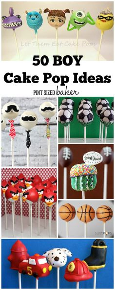 50 Cake Pops for Boys
