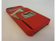 iphone 5 tank case with Credit Card Holder, bottle opener and money clip by Amznfn #wallet #shapeways #3dPrinted