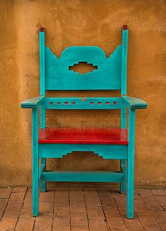 Turquoise and Red Chair