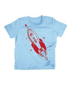 Look at this #zulilyfind! Light Blue Spaceship Tee - Toddler & Boys by Ragtop #zulilyfinds