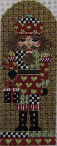 Kelly Clark Nutcracker via PFOS I like the background stitch/ Xmas Cross Stitch, Cross Stitch Charts, Cross Stitching, Cross Stitch Embroidery, Cross Stitch Patterns, Needlepoint Stitches, Needlepoint Kits, Needlepoint Canvases, Needlework