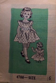 Vintage 1950s Marian Martin Girls' Dress by NostalgiaVintage2