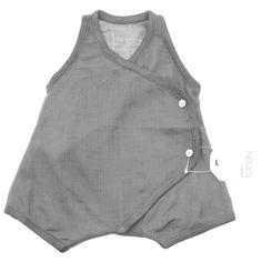 All in one baby romper grey