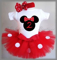 1st Birthday Minnie Outfit Minnie Mouse by BabyBirthdayTee on Etsy