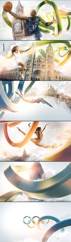 sports design - 2012 Olympics coverage on Sky by Angelsign Studio , via Behance Web Design, Layout Design, Creative Design, Motion Design, Photoshop, Olympic Colors, Plakat Design, Sports Graphic Design, Sports Graphics