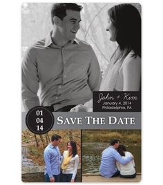 Save the date postcard: Designed by Owl & Twig, LLC