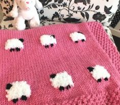 How To Make A Cute Sheep Baby Blanket ( Free Knitting Pattern)