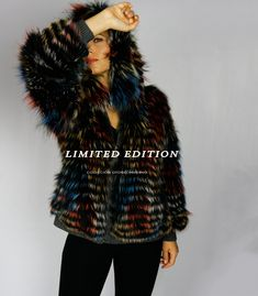 Abrigos de Pelo ** R E B A J A S ** Fur Coat, Jackets, Fashion, Long Hair, Shades Of Red, Zippers, Cowls, Pockets, Fur