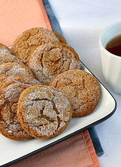Ginger Crackles #cookies | Culinary Covers
