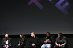 "(L-R) Harold Goldberg, Ellen Page, David Cage, Kadeem Hardison, and Eric Winter speak at Tribeca Talks: After the Movie ""Beyond: Two Souls"" during the 2013 Tribeca Film Festival on April 27, 2013 in New York City."