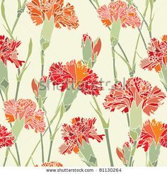 stock-vector-elegance-seamless-pattern-with-flowers-cloves-vector-floral-illustration-in-vintage-style-81130264.jpg (450×470)