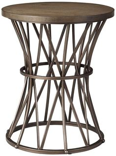 Home Decorators Side table | Tapered drum side table | Metal side tables