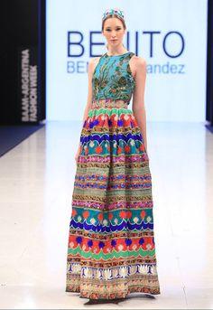 Alta costura: Colección Benito Fernandez Otoño/Invierno 2015 | Vestidos Glam Estilo Folk, Estilo Hippie Chic, Hippie Boho, Party Looks, Tie Dye Skirt, Boho Chic, Summer Dresses, Formal, Womens Fashion