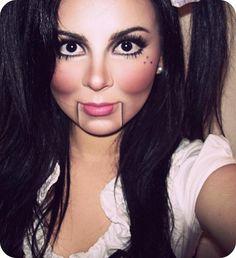 Maquiagem para boneca de ventríloco. #ventriloquist #doll #makeup #maquiagem #carnaval #makeupideas