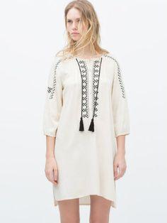 Tunique brodée de Zara : Zara fait son Woodstock ! - Journal des Femmes