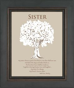 Perfect Wedding Gift For A Sister : SISTER Gift -Personalized Gift for Sister -Wedding Gift for Sister ...