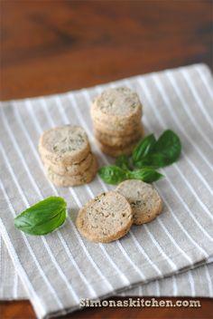 Biscotti Salati al Grano Saraceno e Basilico - Savory Cookies with Buckwheat and Basil