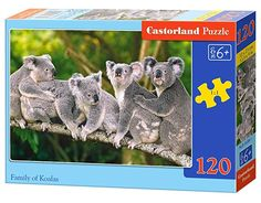 Castorland Classic Family of Koalas Jigsaw Puzzle, 120 Pieces Set, Multicolour Red Riding Hood, Jigsaw Puzzles, Learning, Toys, Classic, Australia, Amazon, Games, Koalas