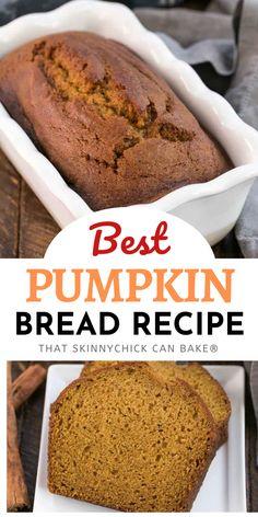 Best Pumpkin Bread Recipe, Best Homemade Bread Recipe, Pumpkin Recipes, Chicke Recipes, Cranberry Recipes, Holiday Recipes, Baking Recipes, Bread Recipes, Homemade Desserts