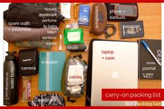 Carry ons and carry on packing list