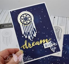 Nicole Wilson Independent Stampin' Up!® Demonstrator - New Catalogue Blog Hop using Follow Your Dreams and the new Twinkle Twinkle DSP. #stampinup #followyourdreams #nicolewilsonstamp #dream #dreamcatcher #handmade #card