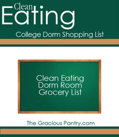 Healthy Shopping List for Dorm Room Cooking #CleanEating