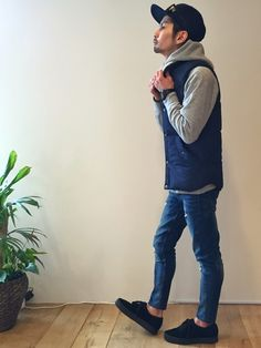 YUSUKE5さんのダウンベスト「H&M 」を使ったコーディネート