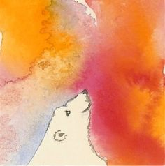 Polar Bear Miniature Watercolor Painting by maryjill on Etsy