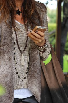 precioso chaleco y complementos perfectos