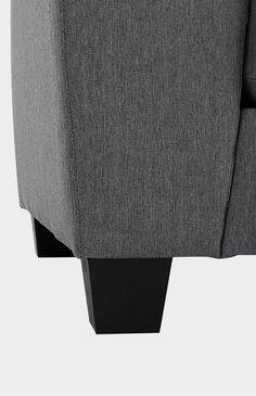 Image pour Divan sectionnel en tissu gris à partir de Brault & Martineau Ottoman, Chair, Furniture, Home Decor, Grey Fabric, Decoration Home, Room Decor, Home Furnishings, Stool