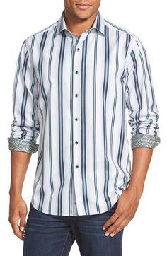 Robert Graham 'Berkshire' Classic Fit Stripe Sport Shirt available at #Nordstrom
