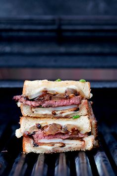 Steak & Potato Barbecued Grilled Cheese