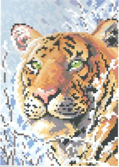 Diamond Painting-Diamant Stickerei/Malerei Diamant Bild Tiger 18 x 25 cm