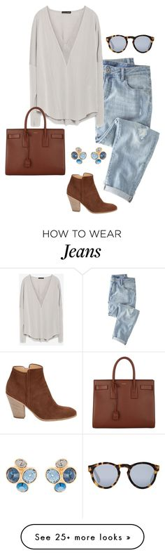 """boyfriend jeans"" by kcunningham1 on Polyvore featuring moda, Wrap, Zara, Illesteva, Yves Saint Laurent, Barneys New York i Ted Baker"