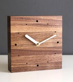 Square Walnut Desk Clock by magszilla on Scoutmob Shoppe