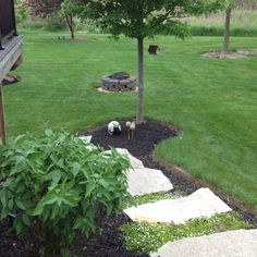 We moved the fire bowl so now we can mow around it and the smoke doesn't blow in my window.
