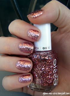 Essie - A Cut Above - now on my nails & I'm loving the delicate pink with the high shine from chunky glitter