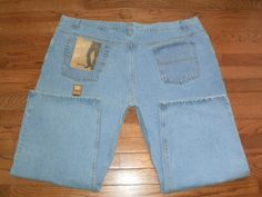 NEW! BIG MENS 50x28 FADED GLORY light BLUE DENIM JEANS pants RELAXED FIT NWT!