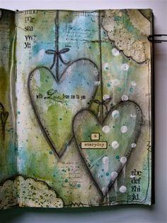 art journal mixed media inspiration Cool ideas inspiration for art journal Art Journal Inspiration, Art Projects, Art, Heart Art, Collage Art, Art Journal, Book Art, Paper Art, Altered Art