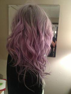 Ombre pastel purple hair http://www.haircolorsideas.com/bright-hair-colors/blue-hair/heidis-ombre/