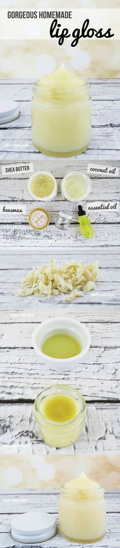 Homemade DIY lip gloss recipe and easy step by step tutorial