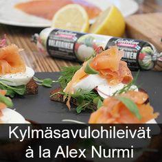 Kylmäsalulohileivät Laitilan Proegg Valkuainen Fresh Rolls, Sushi, Ethnic Recipes, Food, Essen, Meals, Yemek, Eten, Sushi Rolls