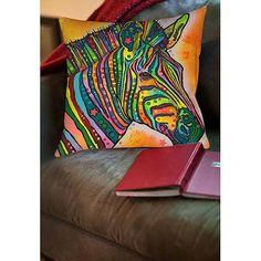 Thumbprintz Zebra Indoor Pillow