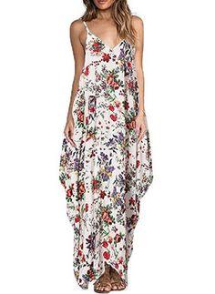 Coton Florale Sans manches Maxi Vintage/Millésime Robes